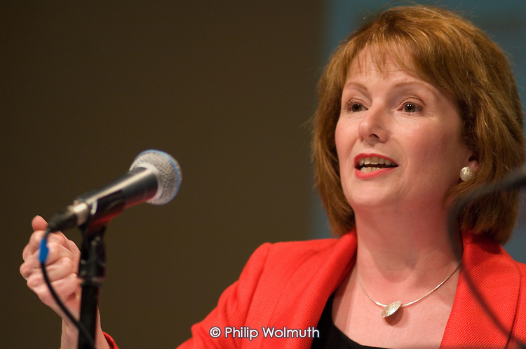 Labour Party Chair Hazel Blears MP, speaks at a Fabian Society hustings meeting for candidates for the deputy leadership of the Labour Party at the Institute of Education, London.