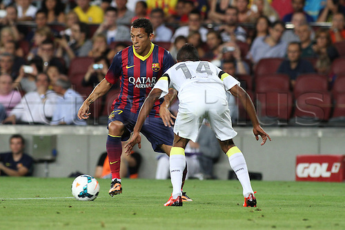 02.08.2013 Barcelona, Friendly football competition Joan Gamper Trophee.  Adriano  in action during the friendly match in the nou Camp