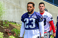 June 7, 2017: New England Patriots safety Patrick Chung (23) walks to practice at the New England Patriots mini camp held on the practice field at Gillette Stadium, in Foxborough, Massachusetts. Eric Canha/CSM
