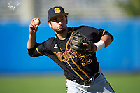 Bethune-Cookman Wildcats second baseman Leroy Garcia (35) during practice before a game against the Wisconsin-Milwaukee Panthers on February 26, 2016 at Chain of Lakes Stadium in Winter Haven, Florida.  Wisconsin-Milwaukee defeated Bethune-Cookman 11-0.  (Mike Janes/Four Seam Images)