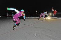 SCHAATSEN: BIDDINGHUIZEN: Flevonice, 19-02-2016, NK Kortebaan, Jesper Hospes, Daidai Ntab, ©foto Martin de Jong