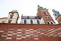 Wawel Castle in Krakow, Poland on April 2, 2016.