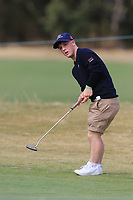 Brendan Lawlor (International) on the 1st green during the ISPS HANDA Disabled Golf Cup at the Presidents Cup 2019, Royal Melbourne Golf Club, Melbourne, Victoria, Australia. 13/12/2019.<br /> Picture Thos Caffrey / Golffile.ie<br /> <br /> All photo usage must carry mandatory copyright credit (© Golffile   Thos Caffrey)