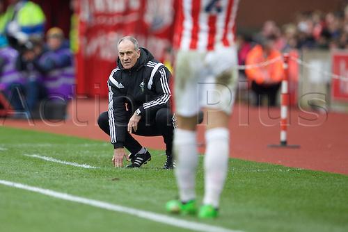 02.04.2016. Britannia Stadium, Stoke, England. Barclays Premier League. Stoke City versus Swansea City.  Swansea City head coach Francesco Guidolin.
