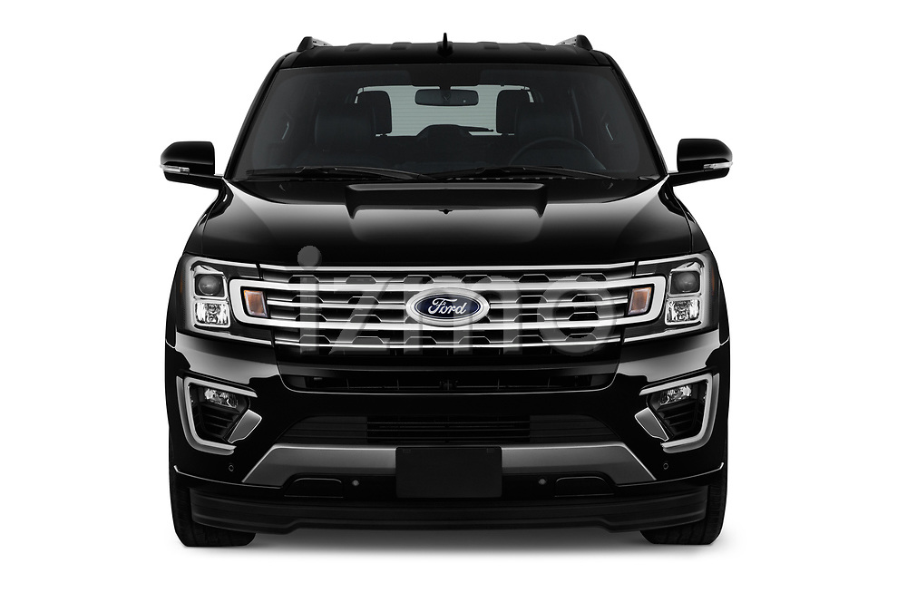 Car photography straight front view of a 2018 Ford Expedition XLT MAX 4x2 5 Door SUV