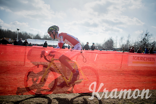 shadowplay by Arno Van Den Broeck (BEL/Iko Enertherm-Beobank)<br /> <br /> junior men's race<br /> CX Soudal Classics Leuven/Belgium 2017