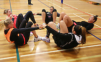 29.08.2016 Silver Ferns train and have a weights workout in Hamilton. Mandatory Photo Credit ©Michael Bradley.