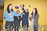 Students practicing their hand eye coordination at the Youth Celebration Day at the Brandon. From left: Aoife Flynn (Interediate School, Killorglin), Meghan Louise Duggan (Killarney Community College) , Claire Doyle( Interediate School, Killorglin) and Aishling Kerins (St Brigids Presentation, Killarney).