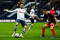 Preston North End's Alan Browne takes on Doncaster Rovers' Herbie Kane<br /> <br /> Photographer Alex Dodd/CameraSport<br /> <br /> The Emirates FA Cup Third Round - Preston North End v Doncaster Rovers - Sunday 6th January 2019 - Deepdale Stadium - Preston<br />  <br /> World Copyright &copy; 2019 CameraSport. All rights reserved. 43 Linden Ave. Countesthorpe. Leicester. England. LE8 5PG - Tel: +44 (0) 116 277 4147 - admin@camerasport.com - www.camerasport.com