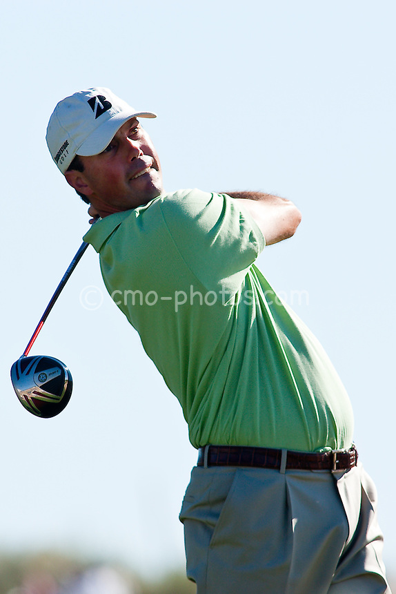 Jan 31, 2009; Scottsdale, AZ, USA; Matt Kuchar (USA) hits a tee shot on the 13th hole during the third round of the FBR Open at the TPC Scottsdale.