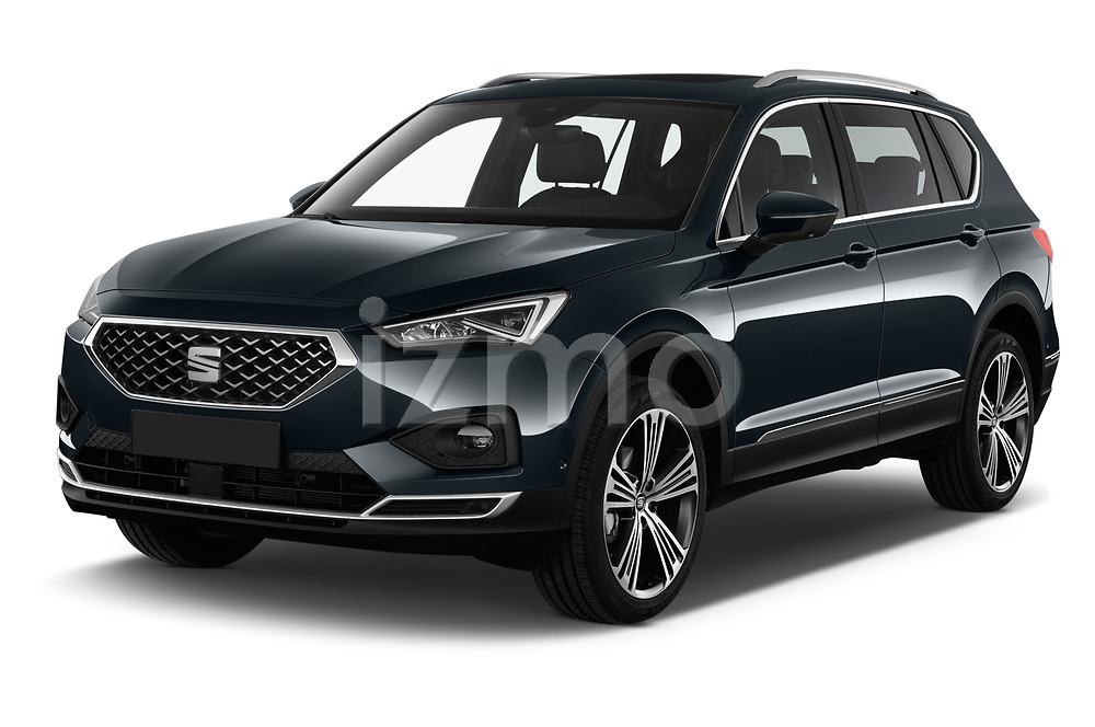 2019 Seat Tarraco Xcellence 5 Door SUV Angular Front stock photos of front three quarter view
