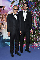 LONDON, UK. November 01, 2018: Andrea Bocelli &amp; Matteo Bocelli at the European premiere of &quot;The Nutcracker and the Four Realms&quot; at the Vue Westfield, White City, London.<br /> Picture: Steve Vas/Featureflash