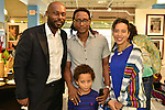 MIAMI, FL - DECEMBER 05: Actor Jimmy Jean-Louis, Carl Juste, son and Marie Vickles attends the NE2P Art Beat Miami Chef Creole Celebrity Brunch at the Little Haiti Cultural Center on Saturday December 05, 2015 in Doral, Florida.  ( Photo by Johnny Louis / jlnphotography.com )
