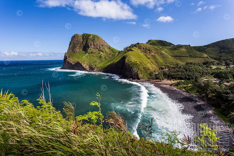Kahakuloa Bay and Kahakuloa Head on the rugged north shore of West Maui.