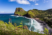 Kahakuloa Bay and Kahakuloa Head on the rugged north shore of West Maui.