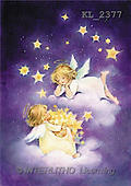 Interlitho, Emilia, CHRISTMAS CHILDREN, angels, paintings, 2 angels, stars(KL2377,#XK#)