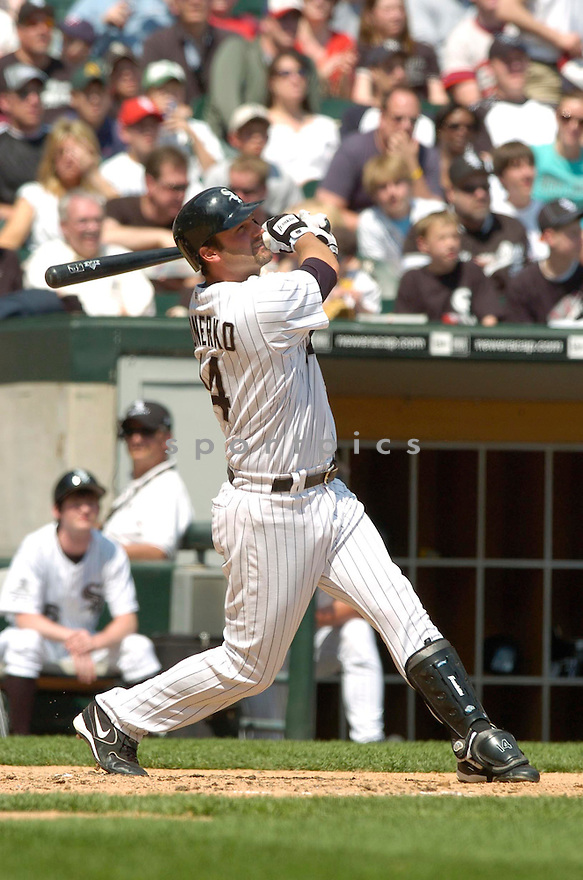 Paul Konerko, of the Chicago White Sox, during their game against the Minnesota Twins on April 23, 2006 in Chicago...Sox  win 7-3..David Durochik / SportPics