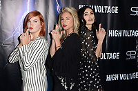 "LOS ANGELES - OCT 16:  Grace Bannon, Allie Gonino, Chloe Catherine Kim at the ""High Voltage"" Los Angeles Red Carpet Premiere at the TCL Chinese 6 Theater on October 16, 2018 in Los Angeles, CA"