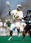 3 April 2010: University of Vermont Catamounts' Midfielder Augie Remien, a Freshman from Winnetha, IL, in action against the Binghamton University Bearcats at Moulton Winder Field in Burlington, Vermont. The Catamounts defeated the visiting Bearcats 11-8 in Vermont's opening home game of the 2010 season. Mandatory Credit: Ed Wolfstein Photo