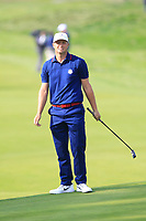 Alex Noren (Team Europe) on the 4th during the Friday Foursomes at the Ryder Cup, Le Golf National, Ile-de-France, France. 28/09/2018.<br /> Picture Thos Caffrey / Golffile.ie<br /> <br /> All photo usage must carry mandatory copyright credit (© Golffile | Thos Caffrey)