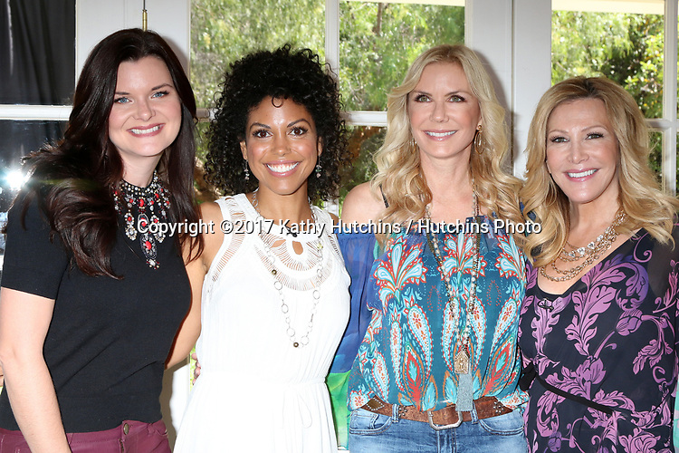 """LOS ANGELES - APR 14:  Heather Tom, Karla Mosley, Katherine Kelly Lang, Kym Douglas at the """"Home and Family"""" Celebrates """"Bold and Beautiful's"""" 30 Years at Universal Studios Back Lot on April 14, 2017 in Los Angeles, CA"""