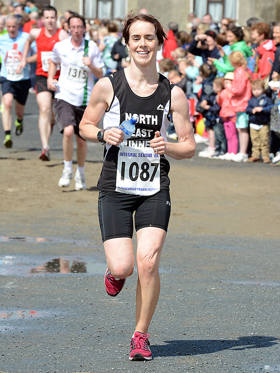 Karen McCrystal waas 2nd lady home in the Integral Clogherhead 10K. Photo:Colin Bell/pressphotos.ie