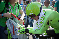 Rigoberto Uran (COL/Cannondale) after finishing his prologue<br /> <br /> stage 1: Apeldoorn prologue 9.8km<br /> 99th Giro d'Italia 2016