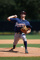 Atlanta Braves pitcher John Gant (89) during an instructional league game against the Toronto Blue Jays on September 30, 2015 at the ESPN Wide World of Sports Complex in Orlando, Florida.  (Mike Janes/Four Seam Images)