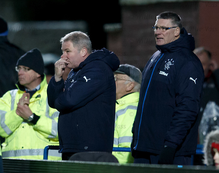 Ally McCoist and Jim Stewart watch on
