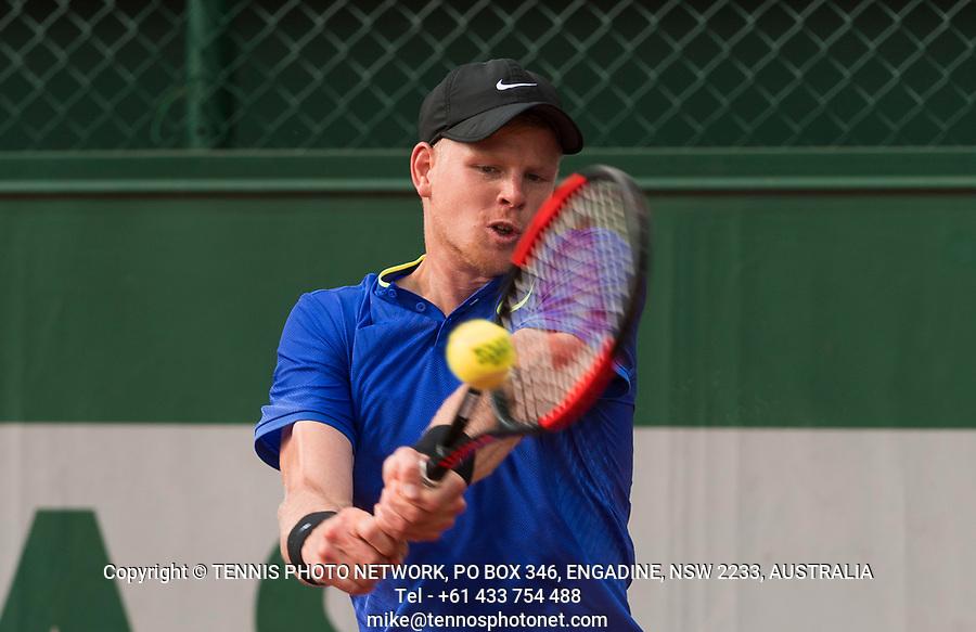 KYLE EDMUND (GBR)<br /> <br /> TENNIS - FRENCH OPEN - ROLAND GARROS - ATP - WTA - ITF - GRAND SLAM - CHAMPIONSHIPS - PARIS - FRANCE - 2017  <br /> <br /> <br /> <br /> &copy; TENNIS PHOTO NETWORK