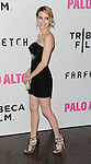 Emma Roberts arriving at the Los Angeles Premiere of Palo Alto, held at Directors Guild of America May 5, 2014.