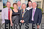 Pictured with Killarney Mayor Cllr Donal Grady at the Mayors Ball held in the Dromhall hotel , Killarney on Friday night were Joe and Lucille Doran, Brendan Coffey, Damien Courtney and Mick Long, Kerry Mountain Rescue Team.
