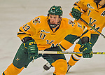 19 February 2016: University of Vermont Catamount Defenseman Dan Senkbeil, a Senior from Fremont, CA, in second period action against the Boston College Eagles at Gutterson Fieldhouse in Burlington, Vermont. The Eagles defeated the Catamounts 3-1 in the first game of their weekend series. Mandatory Credit: Ed Wolfstein Photo *** RAW (NEF) Image File Available ***