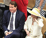 Scenes from the National Museum of Racing Hall of Fame ceremony (John Hendrickson & Marylou Whitney) on August 03, 2018 at the Fasig-Tipton Sales Pavilion in Saratoga Springs, New York. (Bob Mayberger/Eclipse Sportswire)