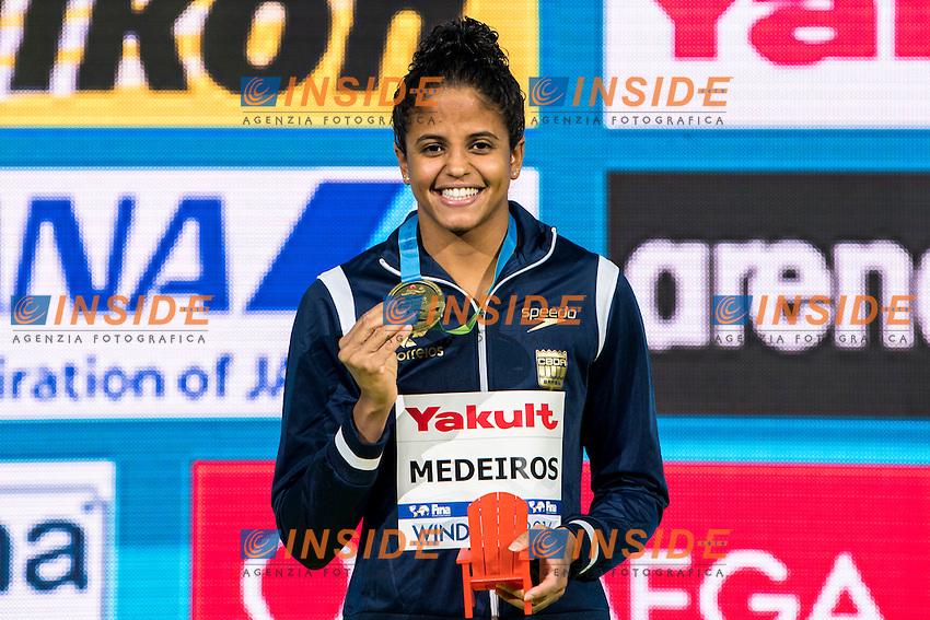 MEDEIROS Etiene BRA Gold Medal<br /> Women's 50m Backstroke<br /> 13th Fina World Swimming Championships 25m <br /> Windsor  Dec. 10th, 2016 - Day05 Final<br /> WFCU Centre - Windsor Ontario Canada CAN <br /> 20161210 WFCU Centre - Windsor Ontario Canada CAN <br /> Photo &copy; Giorgio Scala/Deepbluemedia/Insidefoto
