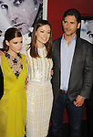 HOLLYWOOD, CA - NOVEMBER 29: Kate Mara, Olivia Wilde, Eric Bana  arrive at the 'Deadfall' Los Angeles premiere at ArcLight Hollywood on November 29, 2012 in Hollywood, California.