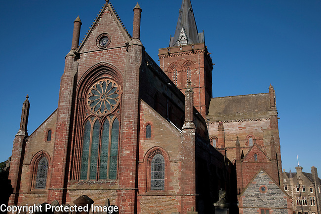 St Magnus Cathedral Church in Kirkwall in Orkney Islands, Scotland