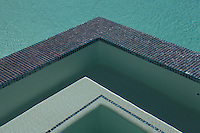 Stock image of residential swimming pool detail
