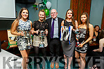 Nora O'Connell, Muireann Moriarty, Eddie Sheehy, Susan Fernane and Megan Sheehy at the Na Gaeil Ladies Award ceremony in the clubhouse on Saturday night.