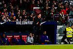 Head coach Diego Simeone of Atletico de Madrid reacts during the La Liga 2018-19 match between Atletico de Madrid and Athletic de Bilbao at Wanda Metropolitano, on November 10 2018 in Madrid, Spain. Photo by Diego Gouto / Power Sport Images