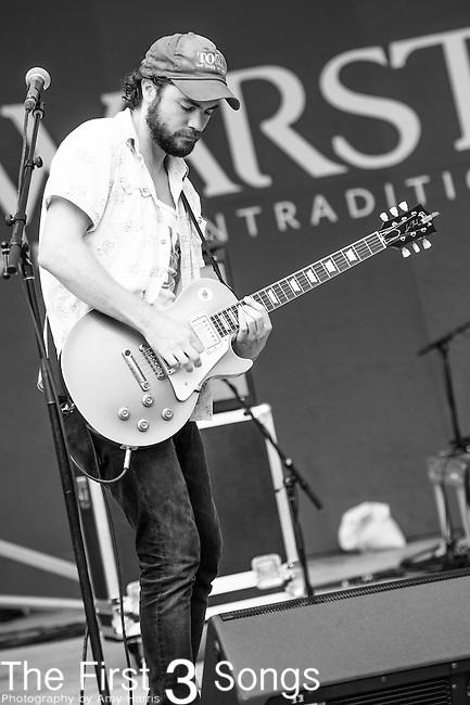 Matthew Hyrka of The Black Cadillacs performs at the 2014 Bunbury Music Festival in Cincinnati, Ohio