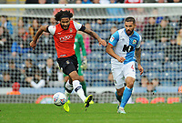 Blackburn Rovers' Bradley Johnson under pressure from Luton Town's Izzy Brown<br /> <br /> Photographer Kevin Barnes/CameraSport<br /> <br /> The EFL Sky Bet Championship - Blackburn Rovers v Luton Town - Saturday 28th September 2019 - Ewood Park - Blackburn<br /> <br /> World Copyright © 2019 CameraSport. All rights reserved. 43 Linden Ave. Countesthorpe. Leicester. England. LE8 5PG - Tel: +44 (0) 116 277 4147 - admin@camerasport.com - www.camerasport.com