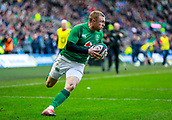 9th February 2019, Murrayfield Stadium, Edinburgh, Scotland; Guinness Six Nations Rugby Championship, Scotland versus Ireland; Keith Earls (Ireland) goes over to score the converted try 10-19