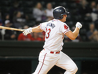 Sept. 17, 2009: Ryan Lavarnway (33) of the Greenville Drive hits in Game 3 of the South Atlantic League Championship Series between the Drive and the Lakewood BlueClaws Sept. 17, 2009, at Fluor Field at the West End in Greenville, S.C.  Photo by: Tom Priddy/Four Seam Images