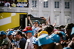 Young fan at sign on before Stage 1 of the 2019 Tour de France, running 194.5km from Brussels to Brussels, Belgium. 6th July 2019.<br /> Picture: ASO/Pauline Ballet | Cyclefile<br /> All photos usage must carry mandatory copyright credit (© Cyclefile | ASO/Pauline Ballet)