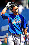 3 July 2010: New York Mets center fielder Angel Pagan warms up prior to a game against the Washington Nationals at Nationals Park in Washington, DC. The Nationals defeated the Mets 6-5 in the third game of their 4-game series. Mandatory Credit: Ed Wolfstein Photo
