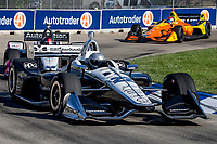 Simon Pagenaud, #22 Chevrolet, action, Detroit Grand Prix, IndyCar race, Belle Isle, Detroit, MI, June 2018.(Photo by Brian Cleary/bcpix.com)