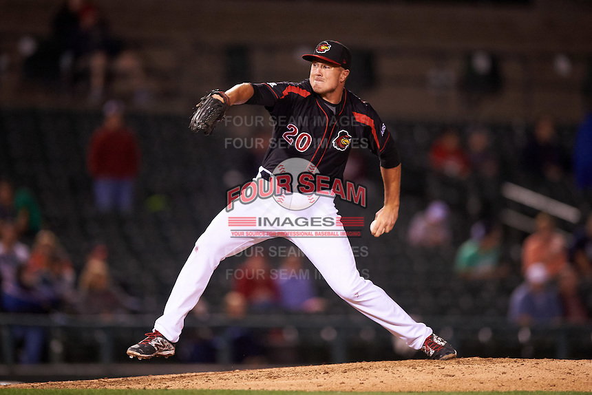 Rochester Red Wings relief pitcher Ryan O'Rourke (20) delivers a pitch during a game against the Syracuse Chiefs on July 1, 2016 at Frontier Field in Rochester, New York.  Rochester defeated Syracuse 5-3.  (Mike Janes/Four Seam Images)