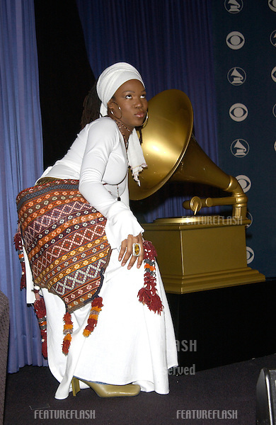 Singer INDIA.ARIE at the nominations announcement, in Beverly Hills, for the 44th Annual GRAMMY Awards..© Paul Smith/Featureflash