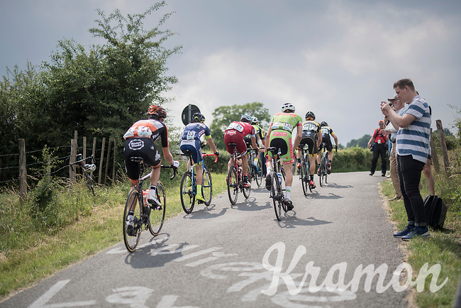 breakaway group up La Redoute<br /> <br /> Ster ZLM Tour (2.1)<br /> Stage 4: Hotel Verviers &gt; La Gileppe (Jalhay)(190km)